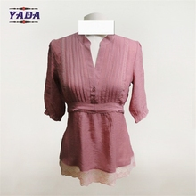 Chinese traditional and ruffle fashion beautiful blouses sexy tops women collar blouse designs