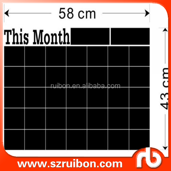 monthly planner blackboard wall sticker easy wipe off wall