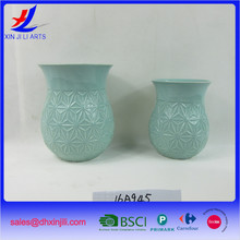 Outdoor Glazed Ceramic Flower pots Painting Designs Wholesale