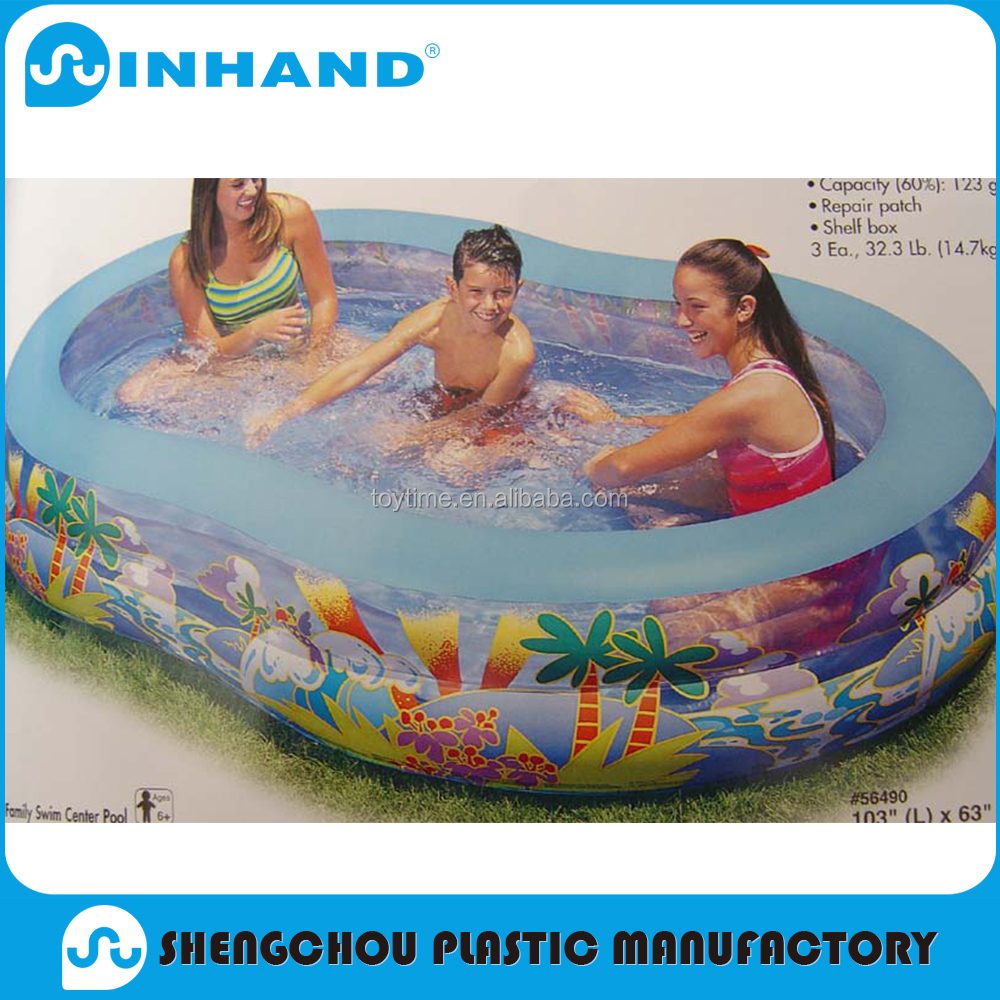 2016 popular pvc inflatable family swimming pool, float lounger, water toys
