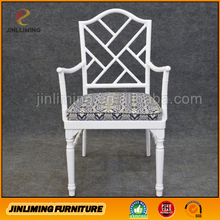 Hotel upholstered dining room chairs with arms JLM-NW803
