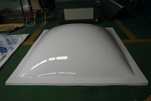 solid Polycarbonate Prismatic skylight for daylighting and Ventilation/ pc hemispherical dome/pyramid dome skylight