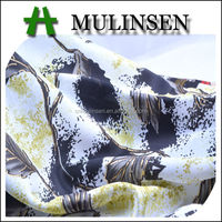 Mulinsen Textile Light Weight 100% Polyester Printed Twist Silk Like Satin Canadian Fabric