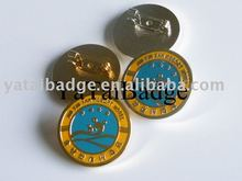 Metal Token pins gold badge color badge lapel pin Accept Customize