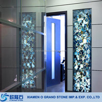 Very Popular Interior Decoration Materials Onyx Wall Slabs Paneling