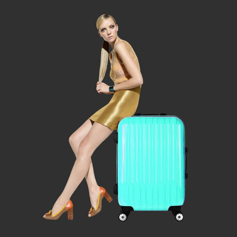 Hard shell luggage suitcase
