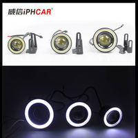 Hotest high power 30W led fog light daytime running light cob angel eyes car fog light drl