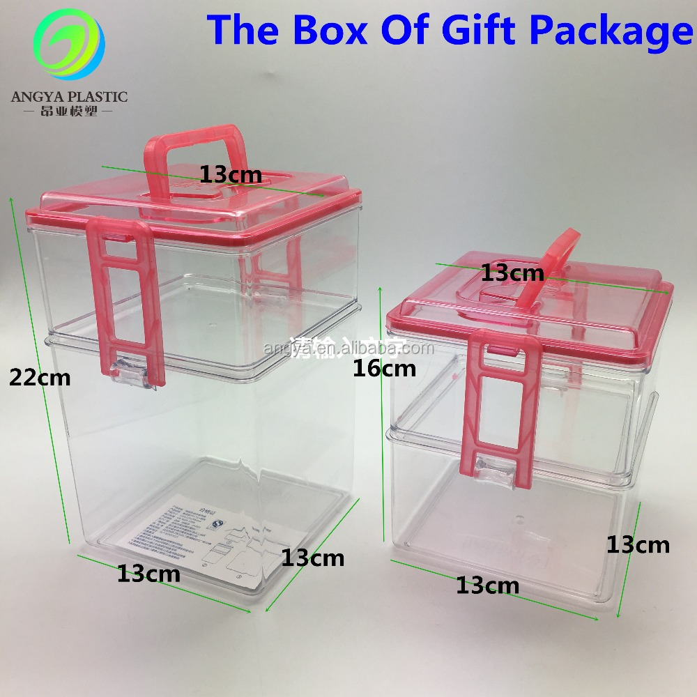 Portable 2-layers plastic gift box Of Gift Package With Logo