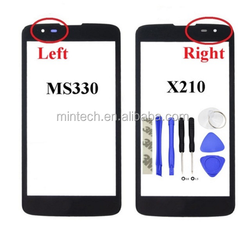 Replacement Front Screen Outer Glass Touch Outer Cover Panel LENS For LG K7 X210 X210DS MS330