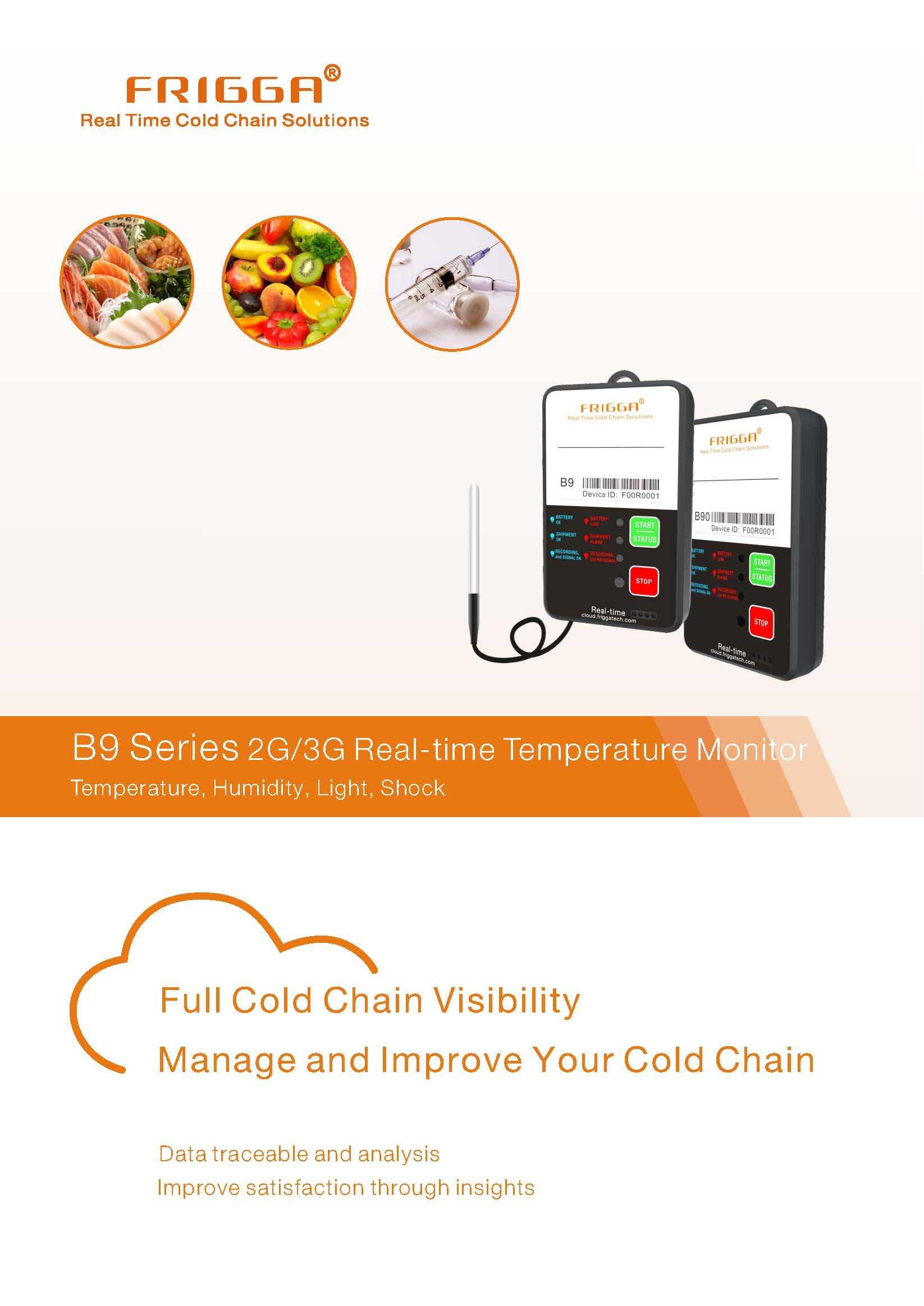 Thermo Hygrometer Digital GPRS 3G B96  Multi-use real timeTemperature  shock recorder  -40Cto 80C