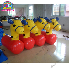 2017 bouncy inflatable jumping little pony hop,ride on inflatable jumping horse racing