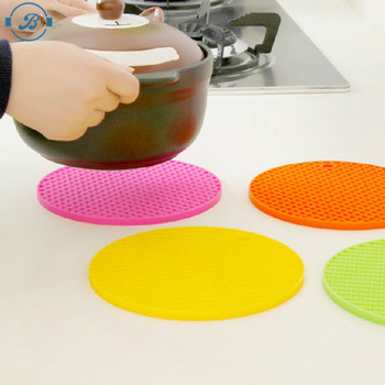 Eco-friendly safe silicone coaster household colourful silicone placement table mat