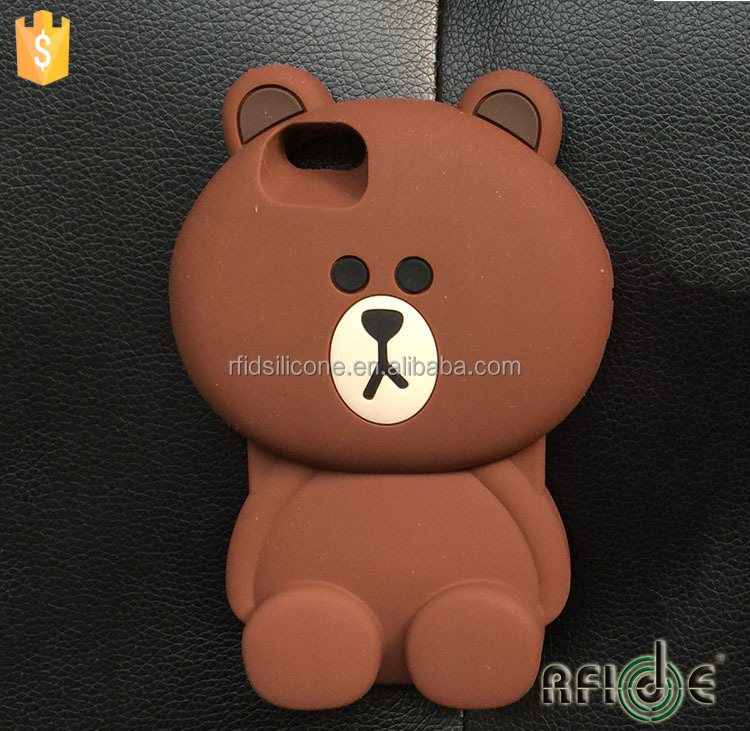 brown bear 3D Silicone Soft Case Cover for iPhone 5 iPhone 5S