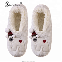 Wholesale Fancy Footwear Kids Christmas Slippers Fur Slipper With Plush