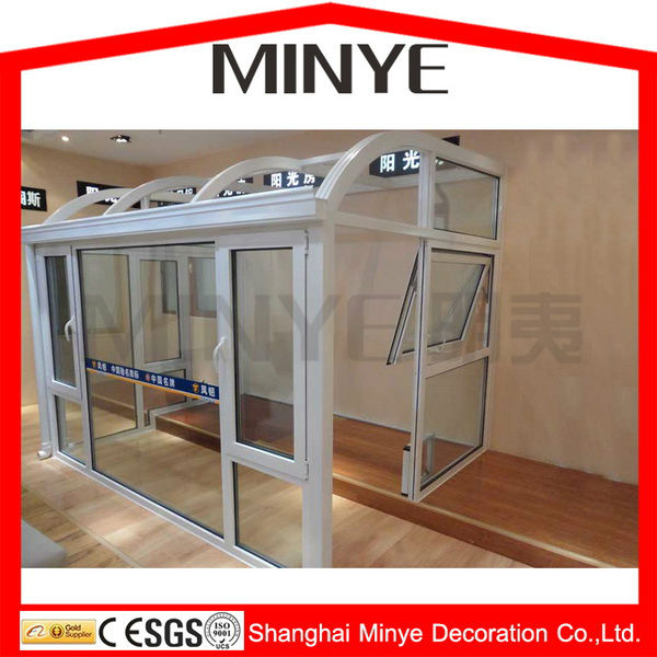 aluminum glass balcony sunroom/greenroom/ garden house/warm sunrooms system design