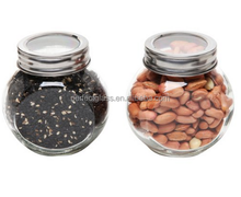 global shape glass spice jar/candy glass bottle