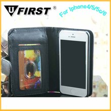 PU leather case for iphone5 5G,wallet with stand filp cover,mobile phone leather case