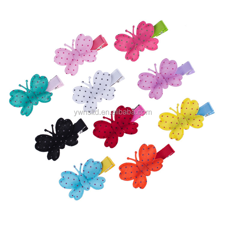Baby Girls Hairpins Colored Butterfly Hair Clips For Kids Fabric Hair Accessories