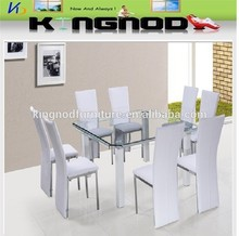 metal pu leather curve glass square shaped 4 seater glass dining table 8 s eats dining table