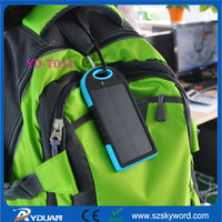 5000mAh Dual USB Portable Waterproof Solar Charger YD-T011 OEM/ODM CE/FCC/RoHS Certificated