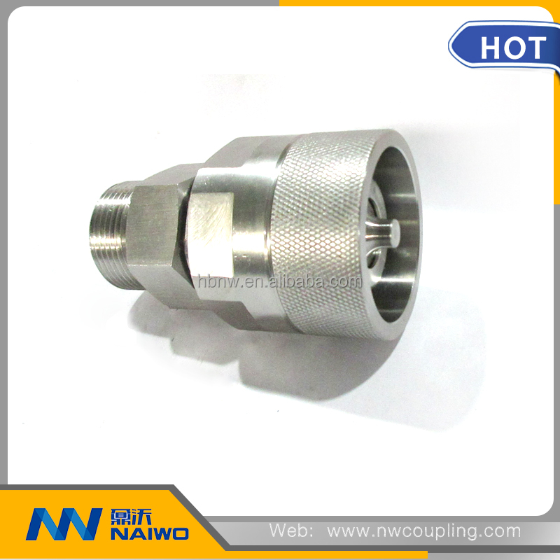 "galvanized hydraulic 1/4"" bsp thread quick coupling pipe fitting"