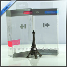 Clear plastic hair extension packaging box