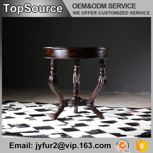 Antique Round Decorate Furniture Dining Solid Wood Table