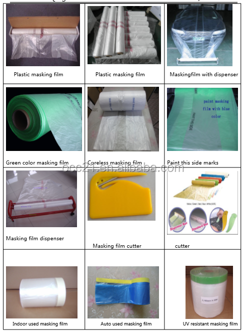 PAINT ABSORBENT CAR MASKING FILM ROLL 150m x 4m QUALITY MASKING FILM