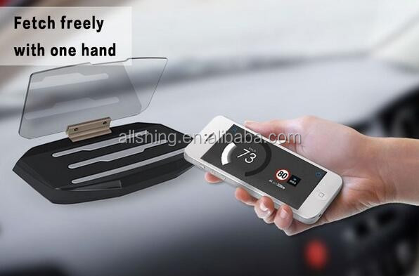 Wholesale Head Up Display, Car HUD Phone GPS Navigation Image Reflector, Cell phone Holder Mount