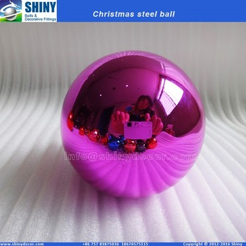 4 inch pink Christmas steel ball