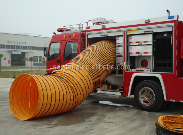 SGS approved colourful airport flexible duct