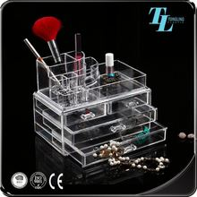 Custom logo multipurpose popular model cheap acrylic makeup organizer with drawers