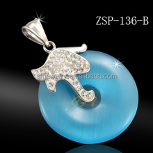 wholesale stainless steel jewelry charms big stone pendant design