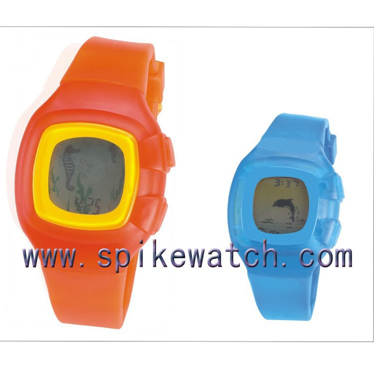 New wholesale fashion sports watch wrist watch plastic cases