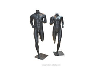 Cheap Fiberglass Sports Running Mannequin Without Head