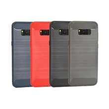 Hot Products Brushed Stripe Carbon Fibre Slip-proof TPU Accesorios Para Celulares for Asus Zenfone 6 Live Max Plus Pro Lite ROG