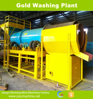 rubber liner gold washing plant trommel scrubber clay washer