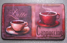 Printed hot coffee pattern anti-fatigue kitchen mat with NBR foam
