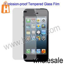 High Quality Transparent Explosion-proof Tempered Glass Screen Protector for iPhone 5 5S