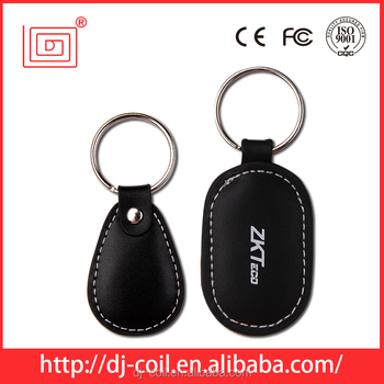 hot sale rfid leather keyfob for access control