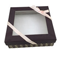 clear window decorative gift box with lid
