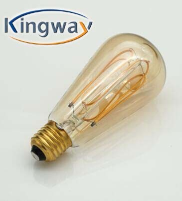 NEW LED SOFT FILAMENT BULB /SPIRAL LED FILAMENT BULB A19 2W
