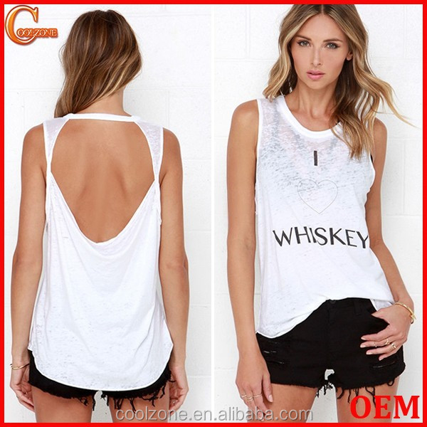 2015 Women new design letter print custom muscle tee/shirt