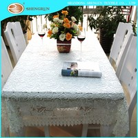 New design high quality embroidery table cloth manufacturer