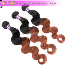 Top Quality Indian human hair ombre body wave color#1-30, same cuticle direction
