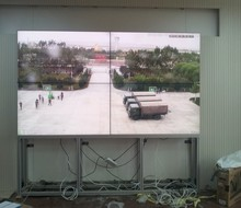 2x2,1x4 46inch samsung lcd video wall with floor standing bracket