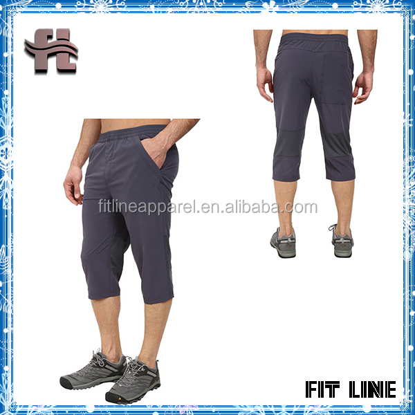 Mens Polyester Spandex Durable Pants Quick Drying Water Resistant