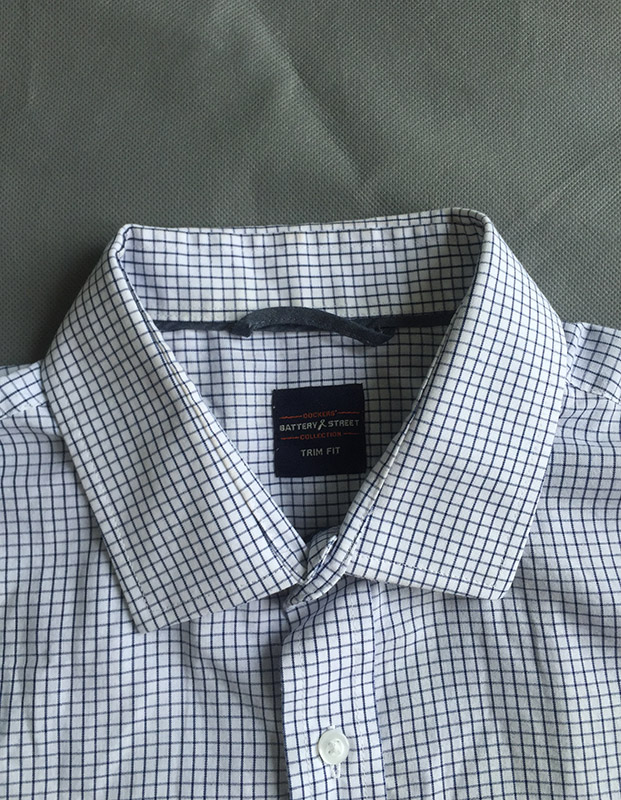 long sleeve wash care label mens check shirt