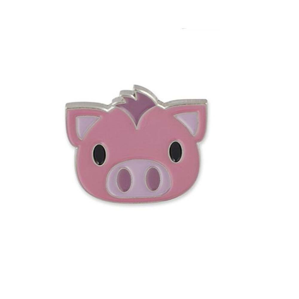 Cheap <strong>Custom</strong> 1 inch Pig Face Emoji Soft Enamel Lapel Pin