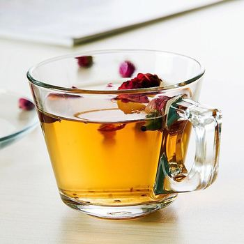 Factory directly selling fancy design glass tea/coffee cup with best price